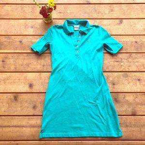 Lacoste Devanlay Polo Dress Teal Blue Green Sz S/4